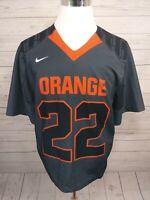 Nike Team Apparel Football Jersey Orange #22 Men's Size Large