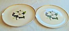 American Limoges China Co. Glamour Trillium G410 22K Set of 2 Dinner Plates
