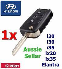 1x Hyundai i30 i20 Elantra 3 Button Flip Key Replacement Remote Case/Shell/Blank