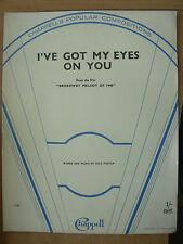VINTAGE DI SPARTITI MUSICALI-ho i miei occhi su di te-da Broadway Melody