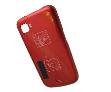 Para Samsung I5700 Galaxy Lite Spica Trasero Puerta Trasera Batería Funda Protectora Roja del Reino Unido