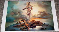 Gods Of WAR Fantasy Mythology Art Poster 1972 AA Sales Pitre PP-353