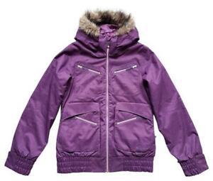 Burton Lush Parka Jacket Dryride Insulated Ski Outerwear Black Cherry Women Sz S