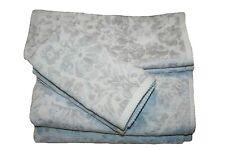 Artisan Bath Towel Set, 6pcs (White-Off and Silver Gray)