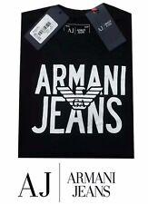 Mens Armani Jeans T-Shirt Black Colour Large size