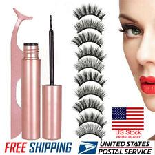 10 Pcs Magnetic False Eyelashes Lashes with Magnetic Liquid Eyeliner Kit Tools