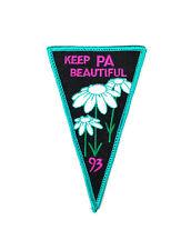 Vintage 1993 Keep Pennsylvania PA Beautiful Don't Litter Environment Patch bt