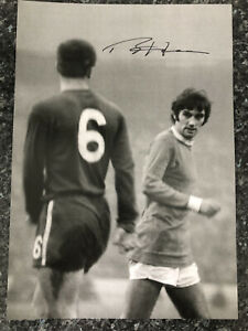 """Ron """"Chopper"""" Harris Iconic Picture with George Best, Signed By Harris"""