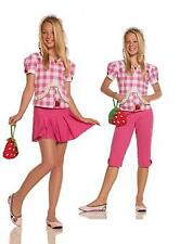 Strawberry Sweetie-5 pc Costume Hoodie, Capris, Skirt, Necklace And Purse SZ-JR