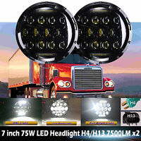 For Freightliner CORONADO 7'' LED Headlights 6014/6015/H6017/H6024 H4 H13 2Pcs