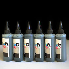 6 Black Refill Bulk Ink for printers that use Epson #69 #78 #79 & #98 ink(600ml)