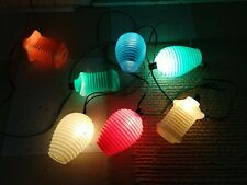 Vintage Mikado Tiki Blow Mold Party Patio Lights - String of 7 - Work Great
