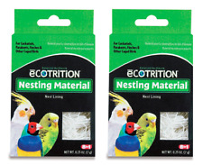 New listing Two Boxes Ecotrition Nesting Material for Cockatiels, Parakeets, Finches 0.25.