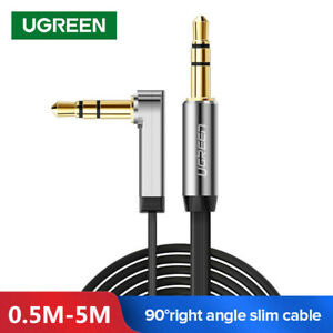 Ugreen 3.5mm Jack Audio Lead Aux Cable 90 Degree Right Angle Flat for iPhone MP4