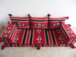 ARABIC ARTUQID oriental floor seating jalsa HOOKAH lounge Hard Foam FILLED 6pcs