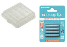 4 x Eneloop LITE AAA Micro Akkus z.B. für DECT Telefone inkl. Akku/Batterie Box