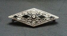 Antique Art Deco Platinum Diamond Pin / Brooch