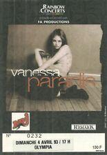 RARE / TICKET BILLET CONCERT - VANESSA PARADIS : LIVE A PARIS ( FRANCE ) 1993