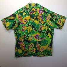 Genuine Hawaiian Aloha Shirt - Made In Hawaii - XL - Mod Paisley Bright colors