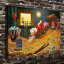Disney Scrooge McDuck Paintings HD Print on Canvas Home Decor Wall Art Pictures