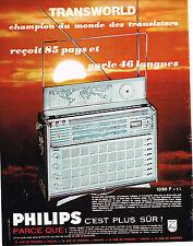PUBLICITE ADVERTISING 015  1965  PHILIPS  transistor TRANSWORLD