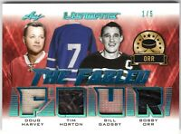 HARVEY HORTON GADSBY ORR 2019-20 Leaf Ultimate FABLED FOUR Jersey/LEATHER #1/5
