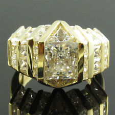 ITEM GR32525 14K gold 5.5carat total CZ princess/triangle quadrillion ring