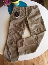 $80 -NWT ExOFFICIO MONDANO PANTS Mens 36 walnut tan natural fit