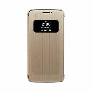 Véritable LG G5 Maille Folio Rapide Housse Étui Doré CFV-160.AGEUGD