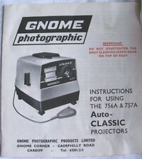 Instructions Slide projector GNOME 756A & 757A auto classic CD/email