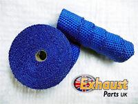 15 Metre Blue New Exhaust Heat Wrap High Temp Manifold Perfromance Exhaust Turbo