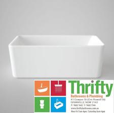 Caroma Cube 1600mm Freestanding Bath 1600 x 768 x 560mm Square Acrylic