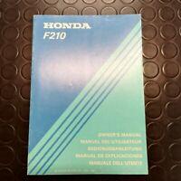 Manuale manual libretto use maintenance motozappa tiller HONDA F 300-1978