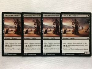 Game Night 2019 MTG Uncommon Lord of the Accursed x 4 NM