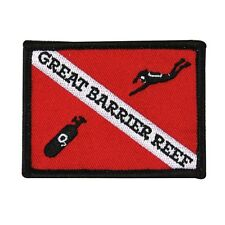 "Scuba Souvenir ""Great Barrier Reef"" Patch Sport Dive Vacation Iron-On Applique"