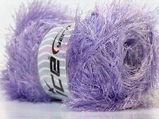 LG 100 gram Light Lilac Eyelash Yarn Ice Light Purple Fun Fur 164 Yards 22727