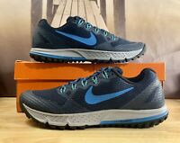 Nike Air Zoom Wildhorse 3 Trail Running Shoes Navy Blue 749336-402 Men's Sz 12.5
