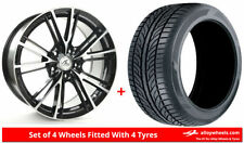 C2 5 Car Wheels with Tyres