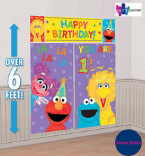 Sesame Street 1st Birthday Party Supplies Decorations SCENE SETTER Backdrop