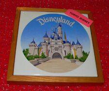 Tokyo Disney Disneyland wood framed ceramic trivet made in Japan