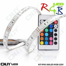 1ROULEAU 500cm BANDE STRIP RGB RVB MULTICOLORE 60LED/M 5050SMD IP65 TRANSFO 220V