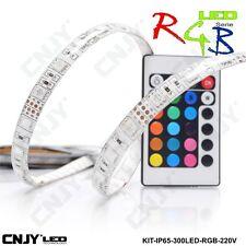 1ROULEAU 500cm BANDE STRIP RGB RVB MULTICOLORE 60LED/M 5050SMD IP65 TRANSFO 220V