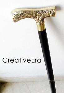 "Derby vintage Brass Derby Handle With Walnut Wood Shaft Walking Cane Stick 36"""