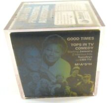 CBS TV 1970's MASH Good Times Cannon Advertisement VTG Plastic & Foam Photo Cube