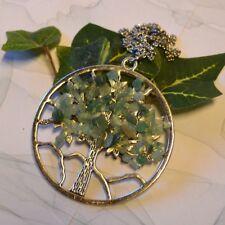 Baum des Lebens  Schmuck Anhänger mit AVENTURIN + Kette Schutz Amulett Talisman