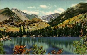 Bear Lake  Rocky Mountains Colorado Mountains Lake Line Postcard