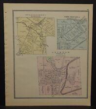 Ohio Huron County Map Clinton 1891  !Y14#67