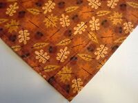 Dog Bandana/Scarf Tie On Autumn Leaves Acorns Custom Made by Linda XS S M L XL