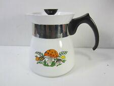 1960's Corning Ware 7 cup Tea Pot- Merry Mushroom #AH
