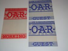 O.A.R. Of a Revolution 3 Unused Backstage Ticket Passes Marc Roberge Chris Culos